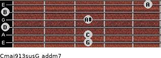 Cmaj9/13sus/G add(m7) guitar chord