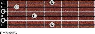 Cmajor6\G for guitar on frets 3, 0, 2, 0, 1, 3