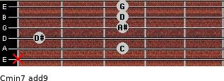 Cmin7(add9) for guitar on frets x, 3, 1, 3, 3, 3