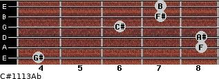 C#11/13/Ab for guitar on frets 4, 8, 8, 6, 7, 7