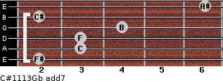 C#11/13/Gb add(7) guitar chord