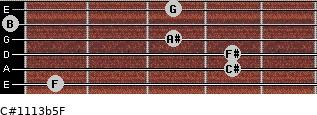 C#11/13b5/F for guitar on frets 1, 4, 4, 3, 0, 3