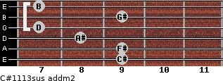 C#11/13sus add(m2) guitar chord