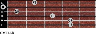 C#11/Ab for guitar on frets 4, 4, 3, 1, 0, 2