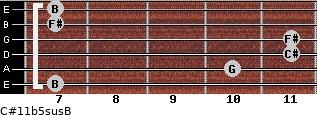 C#11b5sus/B for guitar on frets 7, 10, 11, 11, 7, 7