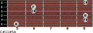C#11#5/A for guitar on frets 5, 9, 9, 6, 6, 9