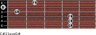 C#11sus/G# for guitar on frets 4, 4, 4, 1, 0, 2