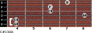 C#13/Ab for guitar on frets 4, 4, 8, 6, 6, 7