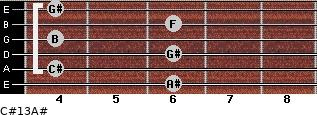 C#13/A# for guitar on frets 6, 4, 6, 4, 6, 4