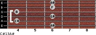 C#13/A# for guitar on frets 6, 4, 6, 4, 6, 6