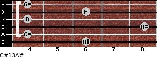 C#13/A# for guitar on frets 6, 4, 8, 4, 6, 4