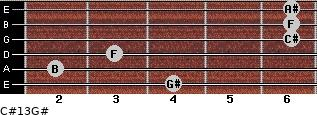 C#13/G# for guitar on frets 4, 2, 3, 6, 6, 6