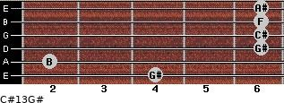 C#13/G# for guitar on frets 4, 2, 6, 6, 6, 6