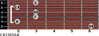 C#13b5/A# for guitar on frets 6, 2, 3, 3, 2, 3