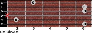 C#13b5/A# for guitar on frets 6, 2, x, 6, 6, 3