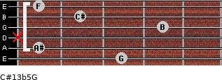 C#13b5/G for guitar on frets 3, 1, x, 4, 2, 1