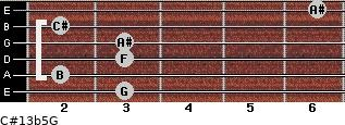 C#13b5/G for guitar on frets 3, 2, 3, 3, 2, 6