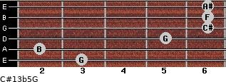 C#13b5/G for guitar on frets 3, 2, 5, 6, 6, 6