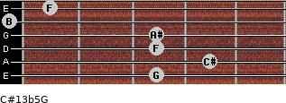 C#13b5/G for guitar on frets 3, 4, 3, 3, 0, 1