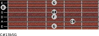C#13b5/G for guitar on frets 3, 4, 3, 3, 0, 3