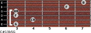 C#13b5/G for guitar on frets 3, 4, 3, 3, 6, 7