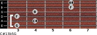 C#13b5/G for guitar on frets 3, 4, 3, 4, 6, 6