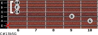 C#13b5/G for guitar on frets x, 10, 9, 6, 6, 6