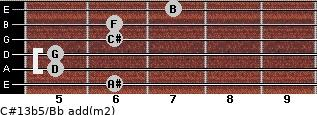 C#13b5/Bb add(m2) guitar chord