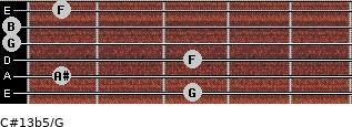 C#13b5/G for guitar on frets 3, 1, 3, 0, 0, 1