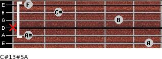 C#13#5/A for guitar on frets 5, 1, x, 4, 2, 1