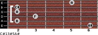 C#13#5/A# for guitar on frets 6, 2, 3, 2, 2, 5