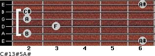 C#13#5/A# for guitar on frets 6, 2, 3, 2, 2, 6