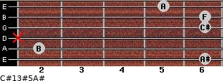 C#13#5/A# for guitar on frets 6, 2, x, 6, 6, 5