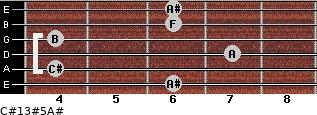 C#13#5/A# for guitar on frets 6, 4, 7, 4, 6, 6