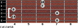 C#13#5/B for guitar on frets 7, 4, 7, 4, 6, 6