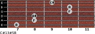 C#13#5/B for guitar on frets 7, 8, 8, 10, 10, 9