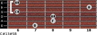 C#13#5/B for guitar on frets 7, 8, 8, 6, 10, 6