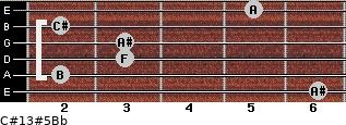 C#13#5/Bb for guitar on frets 6, 2, 3, 3, 2, 5