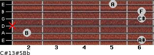 C#13#5/Bb for guitar on frets 6, 2, x, 6, 6, 5