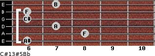 C#13#5/Bb for guitar on frets 6, 8, 7, 6, 6, 7