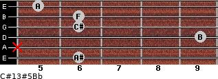 C#13#5/Bb for guitar on frets 6, x, 9, 6, 6, 5