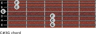 C#3\G for guitar on frets 3, 3, 3, 0, 1, 1