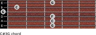 C#3\G for guitar on frets 3, 3, 3, 0, 1, 3