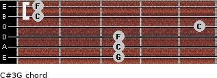 C#3\G for guitar on frets 3, 3, 3, 5, 1, 1