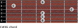 C#3\G for guitar on frets 3, 3, 3, 5, 1, 3