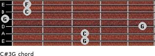 C#3\G for guitar on frets 3, 3, 5, 0, 1, 1