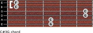 C#3\G for guitar on frets 3, 3, 5, 5, 1, 1