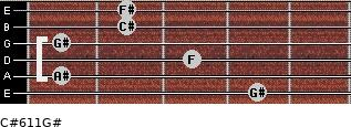 C#6/11/G# for guitar on frets 4, 1, 3, 1, 2, 2