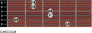 C#6/11/G# for guitar on frets 4, 1, 3, 3, 2, 2
