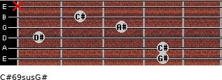 C#6/9sus/G# for guitar on frets 4, 4, 1, 3, 2, x